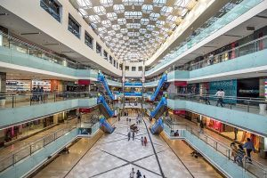 image of atrium at Ambience Mall