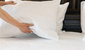 image of memory foam cooling pillow
